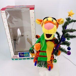"VINTAGE 22"" TIGGER TELCO MOTIONETTE ANIMATED CHRISTMAS DISNEY WINNIE THE POOH"
